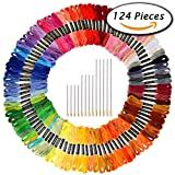 Paxcoo 124 Skeins Embroidery Floss Cross