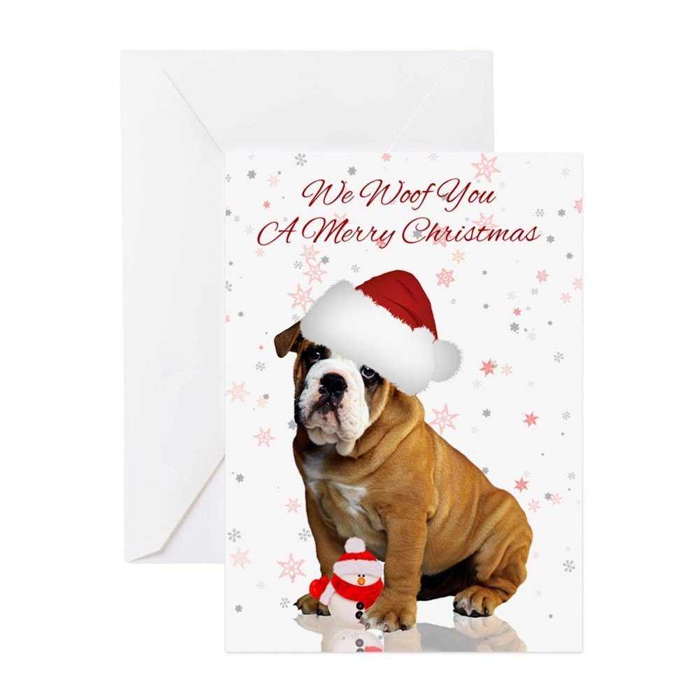 Amazon.com : CafePress - Bulldog Christmas - Greeting Card (20-pack ...