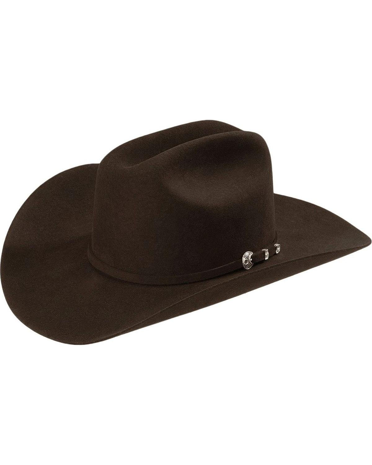 Stetson Men's 4X Corral Buffalo Felt Cowboy Hat Chocolate 7 5/8