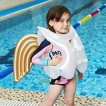 LOVEYIKOAI Chaleco de natación para niños con alas flotantes ...