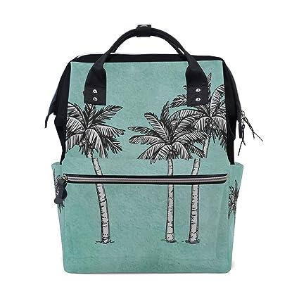 Dibujado a mano Coconut Tree Summer Bolsas de pañales de ...