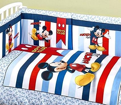Trapunta E Paracolpi Lettino Disney.Trapunta Lettino Con Paracolpi Topolino Amazon It Prima Infanzia