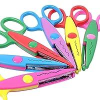 Deals on UCEC 6 Colorful Decorative Paper Edge Scissor Set