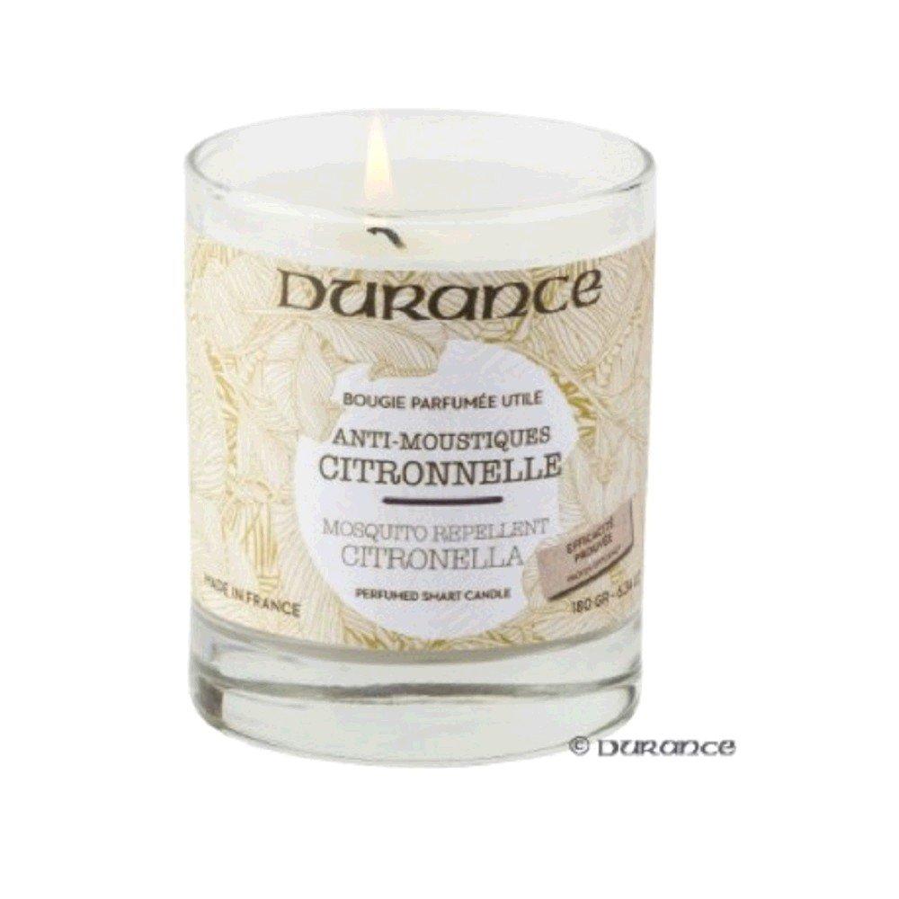 Bougie Parfumée Citronnelle Anti-Moustiques DURANCE