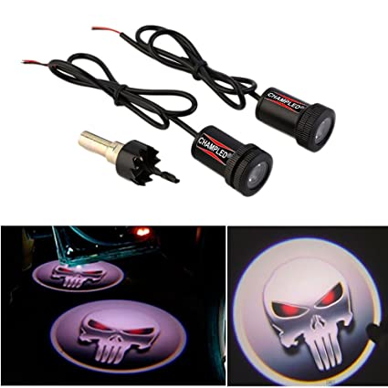 Amazon.com: CHAMPLED For SKULL Car Auto Laser Projector Logo ...