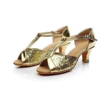 b9094596f5273 Amazon.com: TnaIorlral Women Sandals Rumba Waltz Prom Ballroom Latin ...