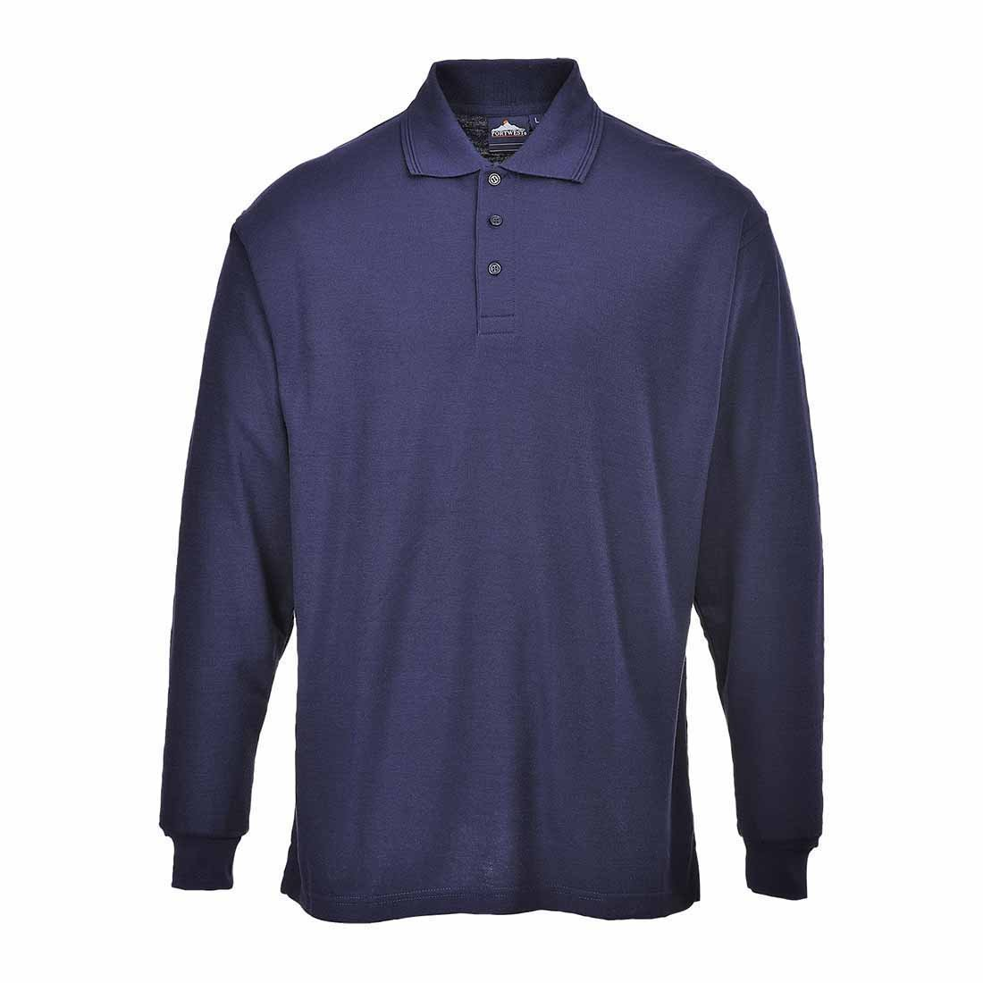 Portwest B212NAR XL Long Sleeve Polo Shirt - Navy AutoMotion Factors Limited B212NARXL