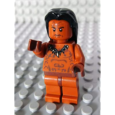 "Lego Ugha Warrior with Hair - 2"" Minifigure from Indiana Jones: Toys & Games"