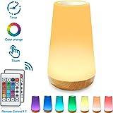 Luz Nocturna de LED, Lámpara de Mesita de Noche, Control Remoto, Control Tactil, Temporizador, Regulable, USB Recargable…