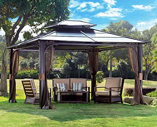 Sunjoy Chatham Steel Hardtop Gazebo - 10 ft. x 12 ft.