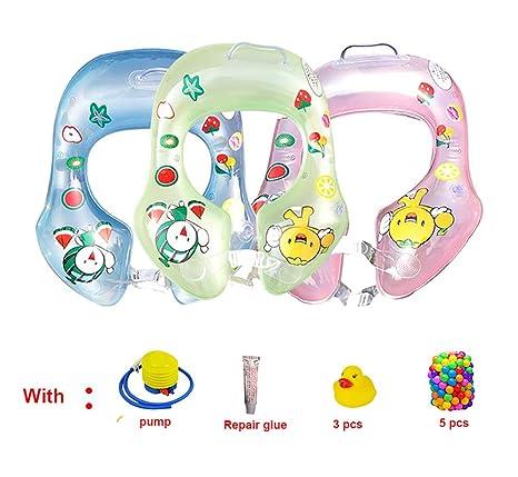 binghang verano flotante Flotador PVC inflable Bebé correa para el hombro anillo de piscina con bomba
