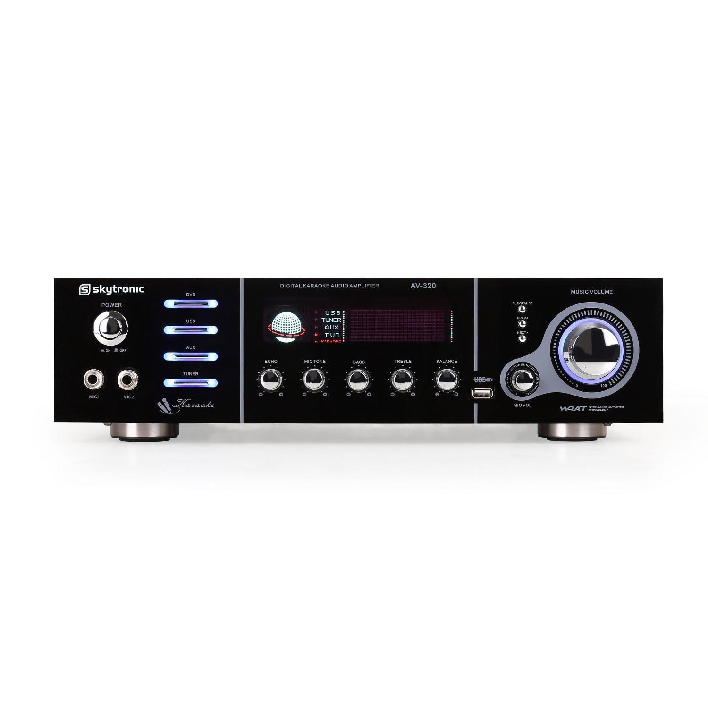 Skytronic AV-320 Amplificador Karaoke Hifi 5 Canales USB
