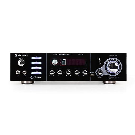 Skytronic AV-320 Amplificador Karaoke Hifi 5 Canales USB ...
