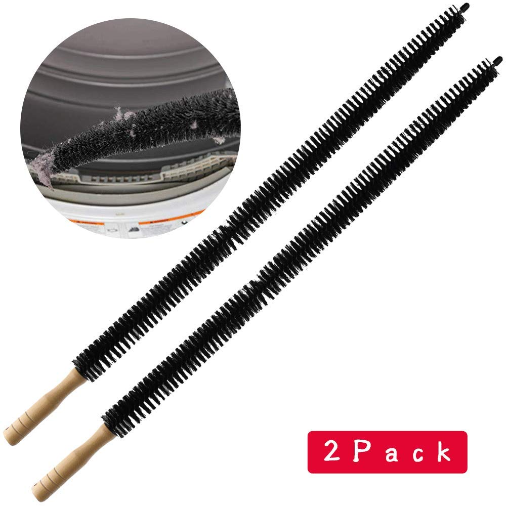 Dryer Vent Cleaner Kit Brush-2 Pack Clothes Lint Trap 30 Inch Long Flexible Pipe Refrigerator Coil Brush