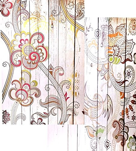 Bellaa 3-Panel Canvas Room Divider Screen, 48