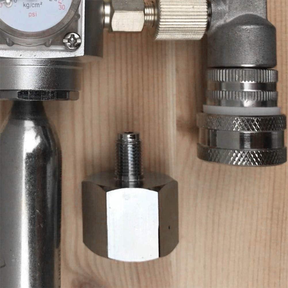 Beer Co2-Adapter einfach f/ür das Aquarium zu Hause zu verwenden Sodastream Co2-Adapter aus Zinklegierung hochwertiger Keg Co2-Adapter