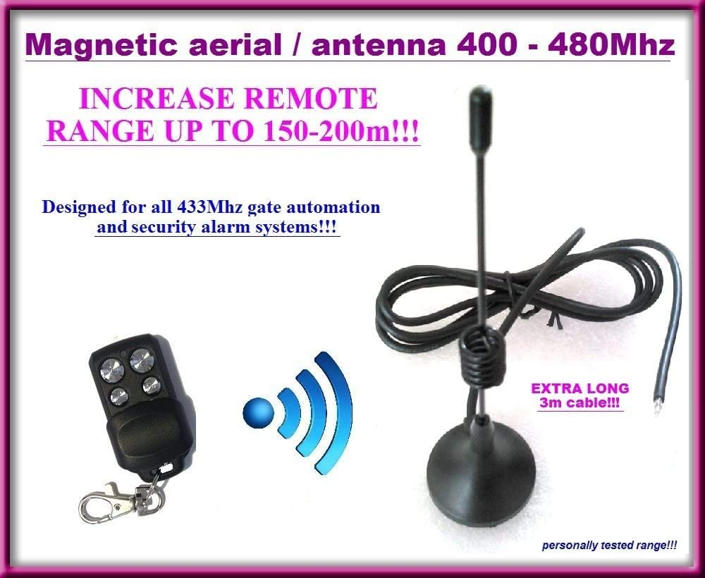External Antenna For Remote Distance Up To 200m+ Gate Automation Aerial 433MHZ