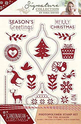 Sara Signature Collection Scandinavian Christmas–Timbro–'Tis the season, trasparente Crafter' s Companion S-SX-ST-TIS