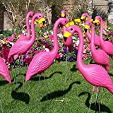 Pack of 4 Vivid Pink Flamingo Large 22.05″ Tall Yard Simulation Flamingoes Lawn Yard Garden Party Ornaments Art Decor For Sale