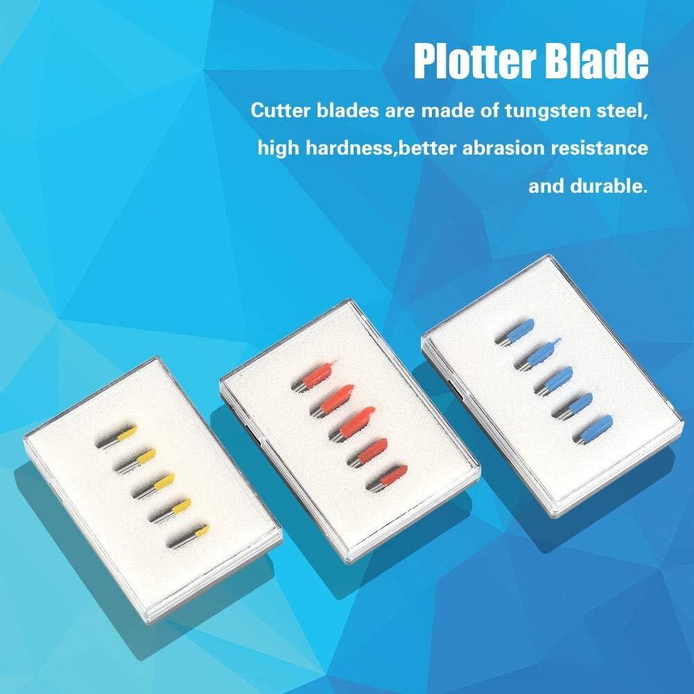 Cortador del vinilo Blade - 15pcs 30 ° 45 ° 60 ° Grado Roland GCC de corte del soporte Plotter Vinilo Cuchilla: Amazon.es: Bricolaje y herramientas