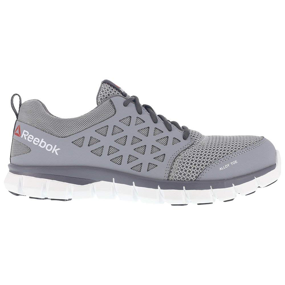 d8271131e806 Reebok Work Mens Sublite Cushion Low Top Lace Up Running Sneaker   Amazon.co.uk  Shoes   Bags