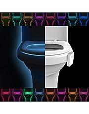 COOWOO AU-HI-TBL-A AU-HI-TBL-A Advanced 16-Color Changing Motion Sensor LED Toilet Seat Bowl Night Light