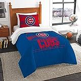 "Chicago Cubs MLB Twin Comforter Set (Grand Slam Series) (64"" x 86"")"