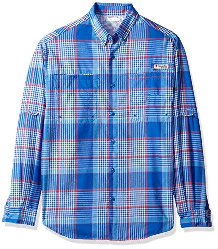 Columbia Men's Tamiami Flannel Long Sleeve Shirt, Vivid Blue