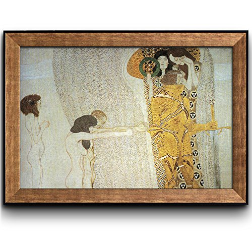 The Beethoven Frieze The Longing for Happiness by Gustav Klimt Framed Art