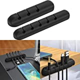 wumedy Durable Silicone Self-Sticking Desktop Cable Winder Cord Organizer Protector Cable Sleeves