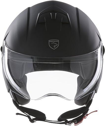 Amazon.es: Panthera casco de moto half jet City negro mate talla L