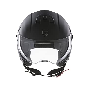 Panthera casco de moto half jet City negro mate talla S