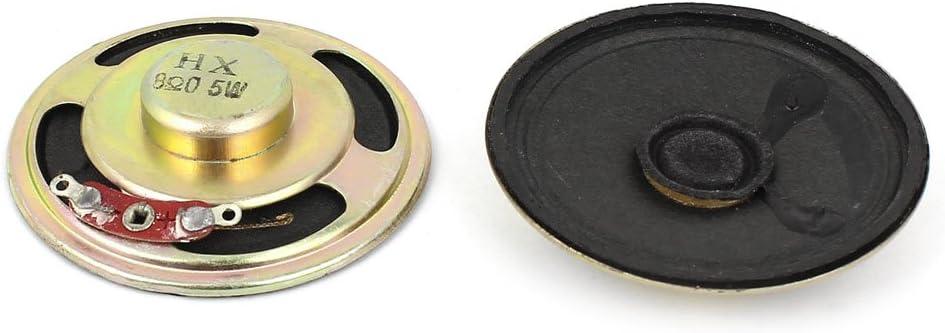 sourcing map Tromba 2 Altoparlanti 8 Ohm 57mm Rotonda allInterno Magnete elettronico