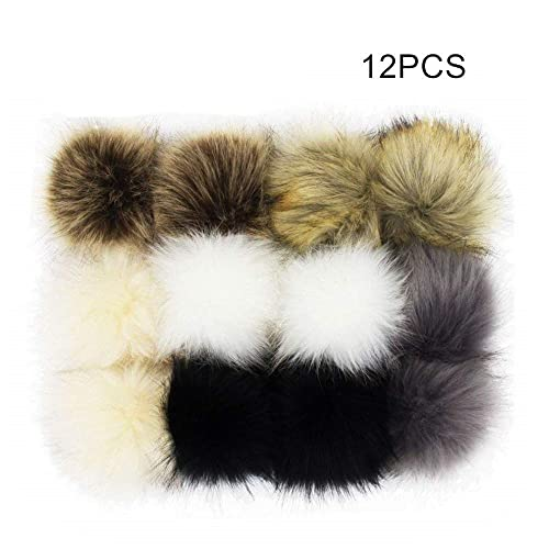 075ed7f22bbc3 Mother's Day Gift 12pcs Faux Raccoon Fur Fluffy Pom Pom Ball for Hat Shoes  Scarves Bag Charms-Gift - Portable Sewing Kit