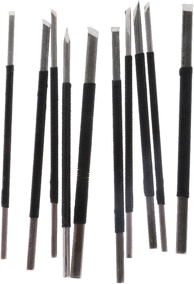 wie bild Bonarty 10 Teile//Satz Steinsiegel Gravur Burin Stein Schnitzen Geschnitzte Werkzeuge Set 10 St/ück