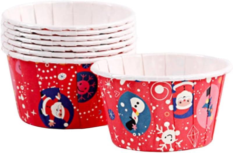 Style 1 Beiersi No/ël Cupcake Papier Muffins Moule G/âteau P/âtisserie D/écoration Baking Cake Cup 50 pcs