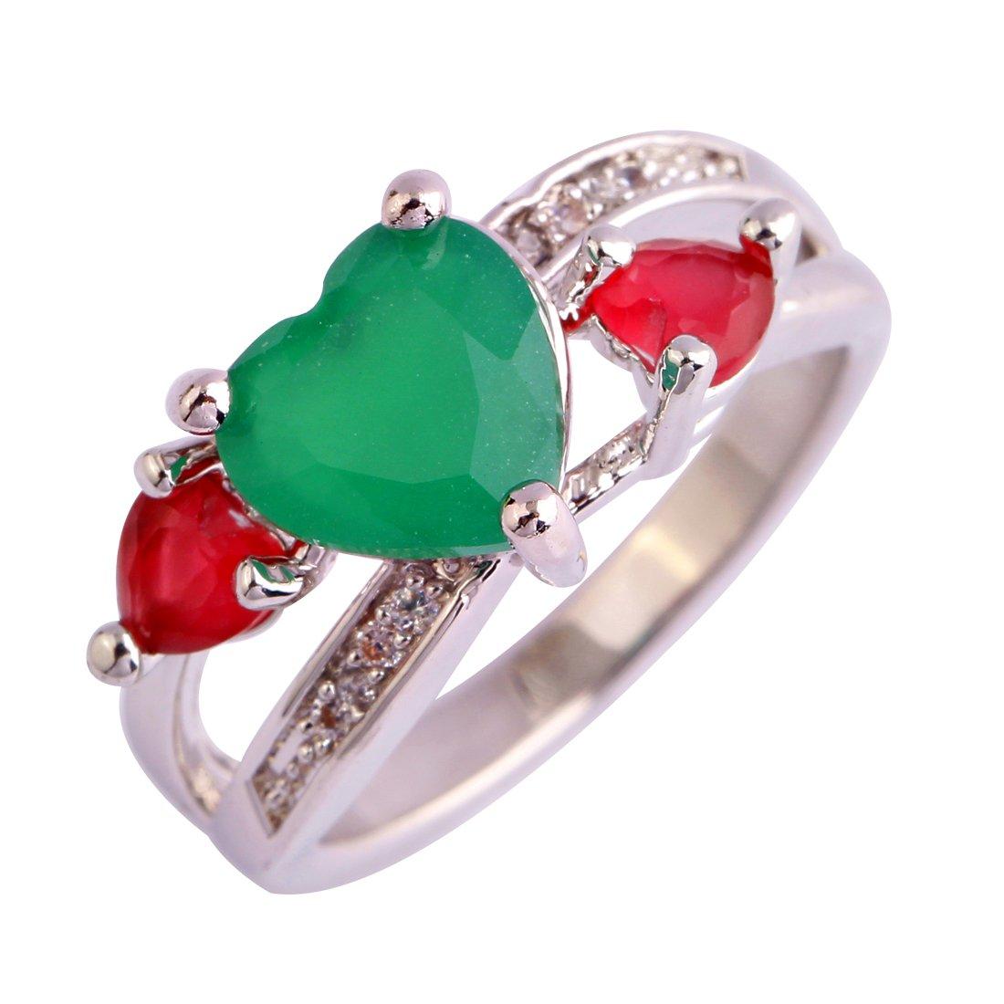 PSEZY Mystic Rainbow Topaz Amethyst rings for Women Vintage Engagement Rings Promise Rings MAE495-B495 10.0