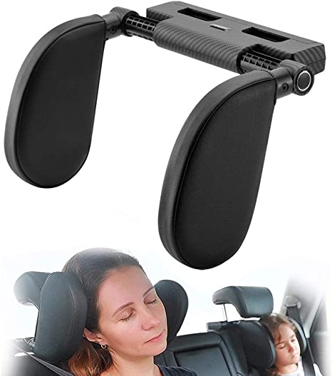 Beige Hopeas Car Seat Headrest Pillow for Kids and Adults Neck Head Protect Support Adjustable Car Travel Headrest