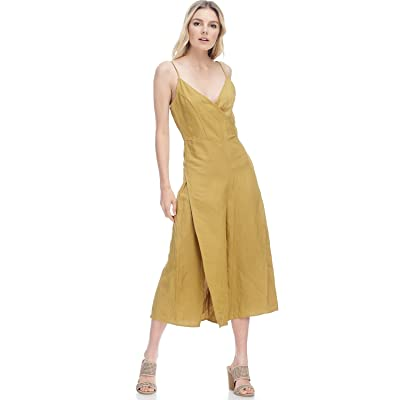 AD Womens Sexy Spaghetti Strap Woven Romper Jumpsuit W/Slits: Clothing