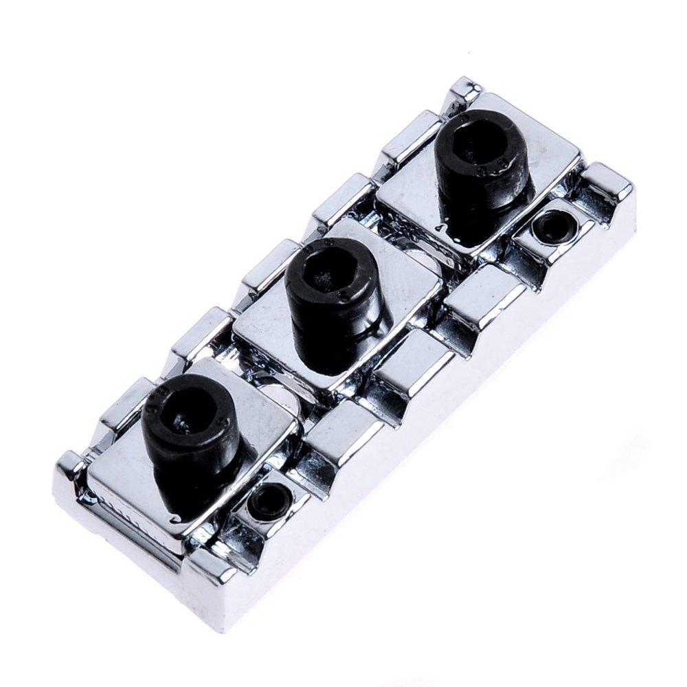 Kmise A2850 5 Pack Adjustable Floyd Rose Locking Nut/Shim Adjustment 42.5mm, Chrome