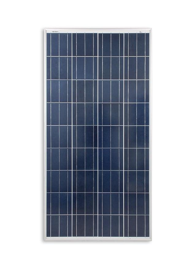 enjoysolar® Polykristallin 130Watt 12V Solarmodul Solarpanel Poly 130W Wohnmobil