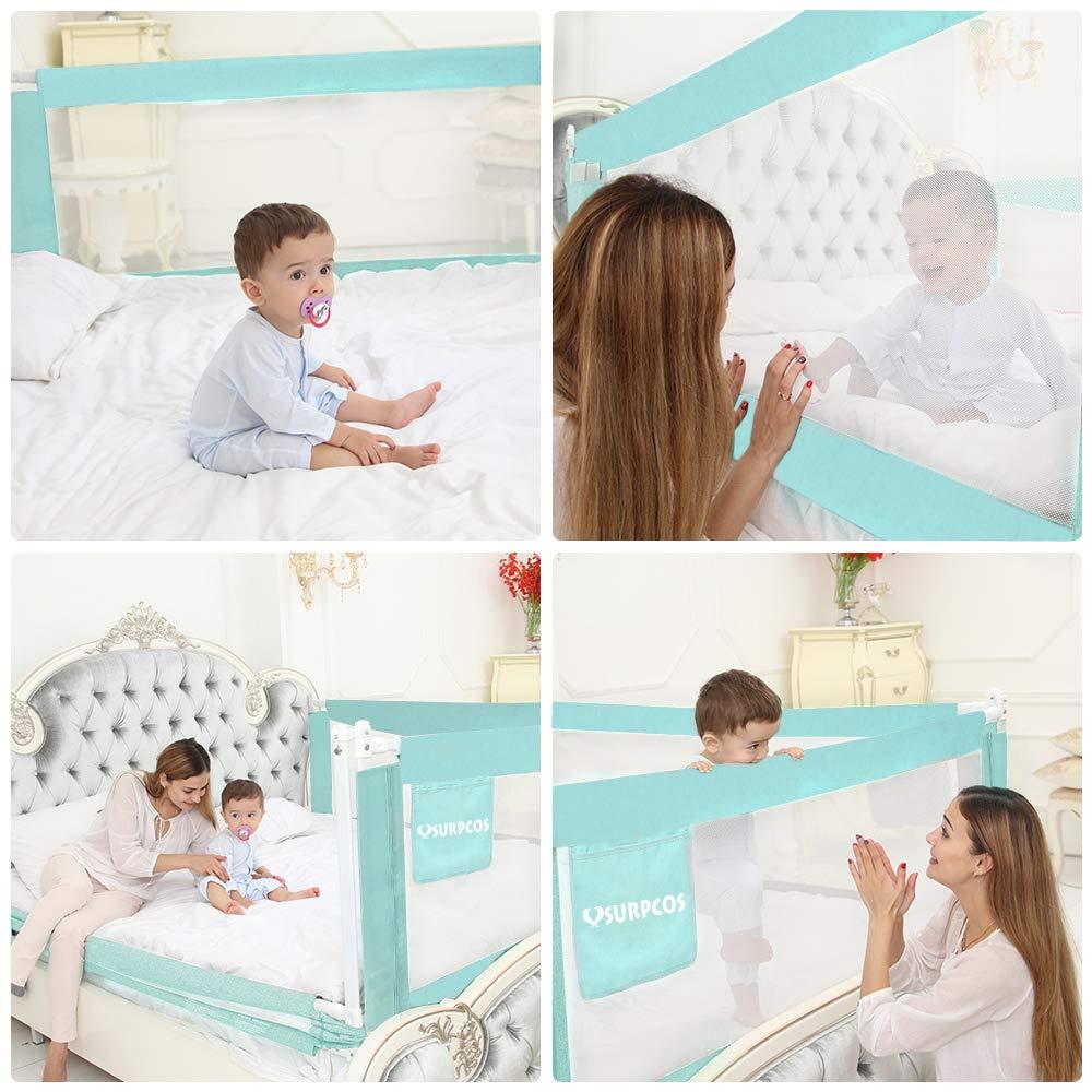 Amazon.com: SURPCOS - Barras de cama para niños – 60