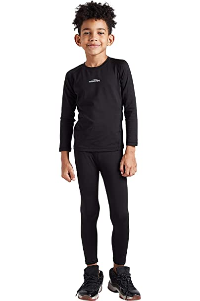 Happy Cherry Boys Athletic Long Sleeve Compression Base Layer Sport Shirt