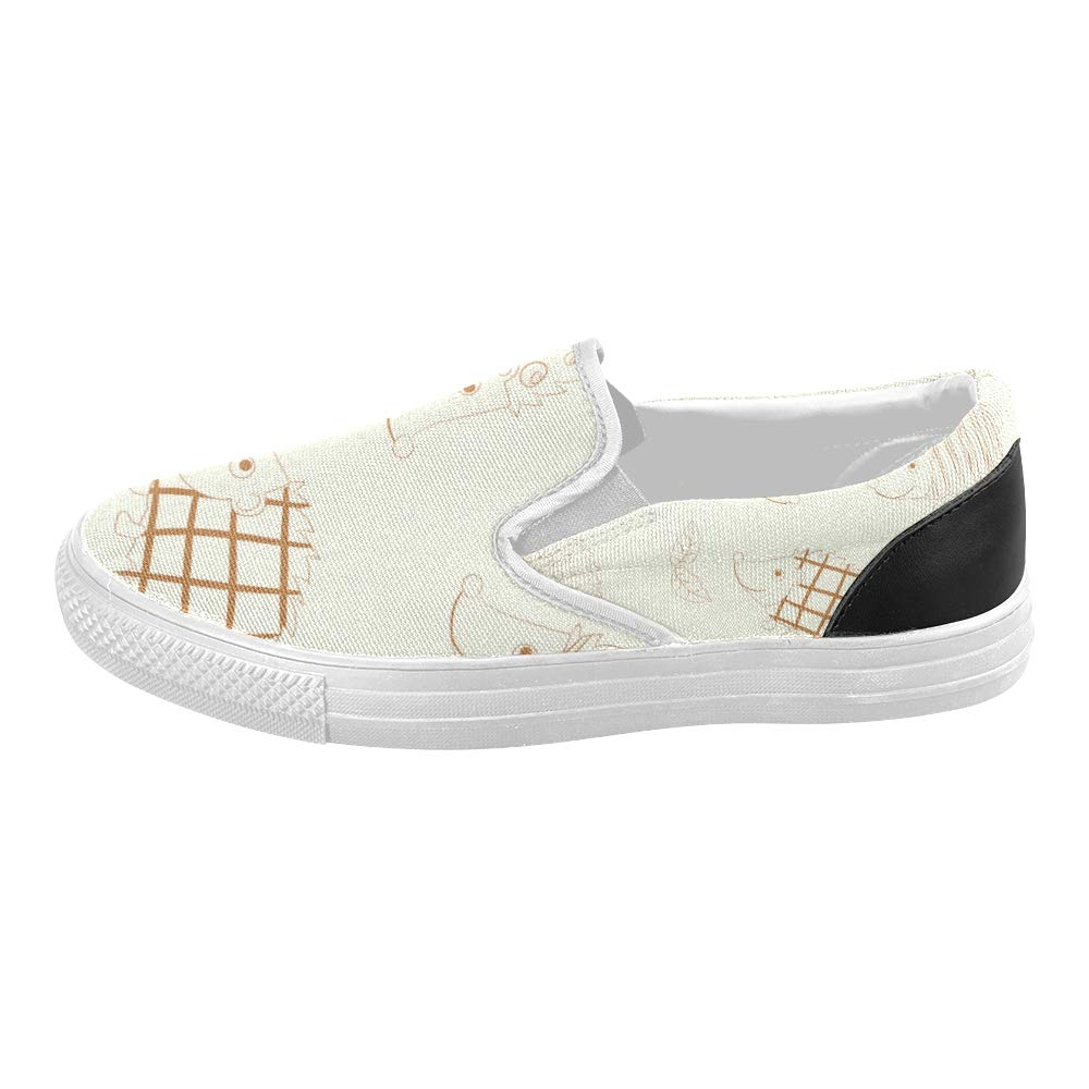 Kids Sneakers Girls Beautiful Wallpaper Cheerful Colored Hedgehogs Canvas Slip-on Casual Printing Comfortable Low Top Womens Canvas Shoe