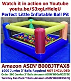 My Bouncer Perfect Little Ball Pit - Great for Indoor Use - 84'' L x 72'' W x 40'' H w/ Blower Pump (This is not a Bounce House, 1000 Jumbo 3'' Balls Required Not Included )