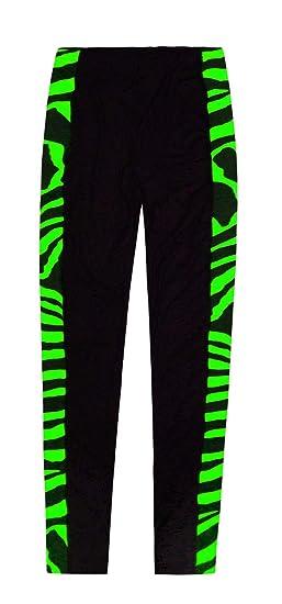 bef75e57e535f3 JollyRascals Girls Leggings Animal Zebra Print Trousers Pants Full Length  Bottoms Kids New Party Dance Leggings Neon Pink Green Orange Yellow Age 5 6  7 8 9 ...