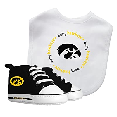 Iowa Hawkeyes Baby Fanatic Bib with Pre-Walkers, NCAA Infant Shoe Gift Set : Baby