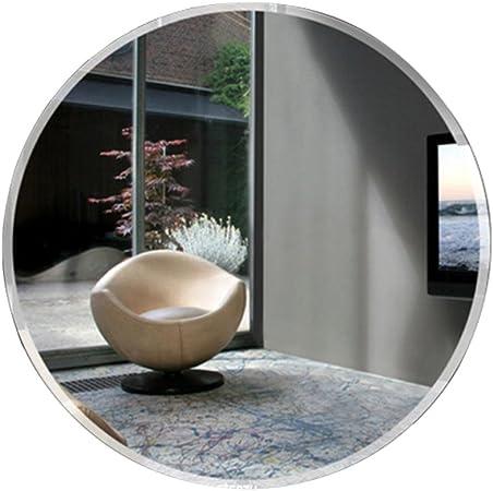 HBWJSH Sencillo y Moderno baño Espejo jardín Espejo de Pared Mediterráneo Redondo Espejo Simple vestidor Espejo de Pared Espejo (Tamaño : 55 * 55cm): Amazon.es: Hogar