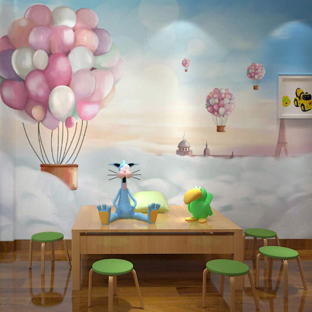 Mural de dibujos animados red red ins globo de aire caliente papel tapiz mural de dibujos animados ni/ños y ni/ñas habitaci/ón infantil fondo pared pri Papel Pintado Fotogr/áfico Fotomural-350cm/×256cm
