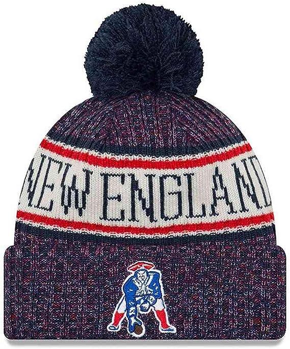 Vintage logo Patriots beanie with New England script